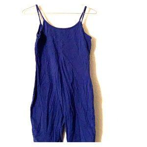 Blue one piece jumpsuit